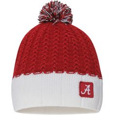 Women s Nike Crimson White Alabama Crimson Tide Express Pom Beanie befbb2b6b4862