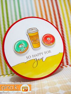 so happy for you - and psst! there's a sale at Gina's Handmade Card Making, Handmade Cards, Card Making Inspiration, Design Inspiration, Hand Stamped Cards, Paper Tape, Creative Cards, Clear Stamps, Your Cards