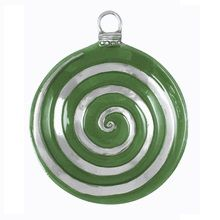 Mariposa – Ornament Sauce Dish with Emerald Enamel Swirl