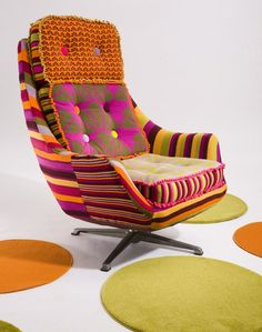 Deryn Relph shares the steps involved in creating the Renee chair from her Retro Rainbow Rejuvenation collection.