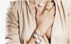 Fabulous layered freshwater pearl and gold bracelets and necklace by Mizuki fletchersmithjewelers.com