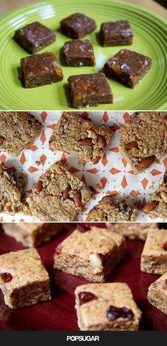 17 Homemade and HealthyEnergy Bars -CAREFULLY read to avoid almond