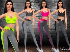 Fitness Outfit by Saliwa at TSR via Sims 4 Updates