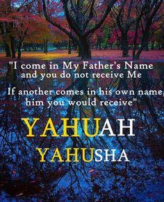 John 5: 43 YAHUAH YAHUSHA