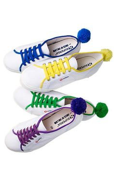 Cute tennis shoes with pom-pom detail from Supergra by House of Holland