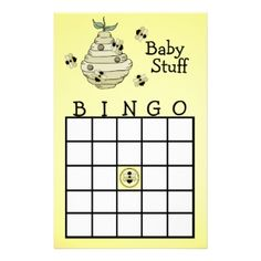 Bumble Bee Baby Shower Games
