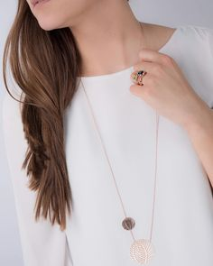 "QUDO Interchangeable ring combination and QUDO necklace ""Tropea"" in a tropical style.😊😍 ⠀ #qudointerchangeable #qudo #qudocollection…"