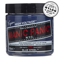 Blue Steel™  -  High Voltage® Classic Cream Formula Hair Color from Manic Panic | Find more cruelty-free beauty @Quirkist |