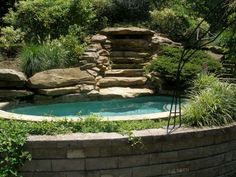 Outdoor Spa with Waterfall..... oooh... yeah!