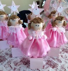 "Adorable Angel Centerpiece Mounted on a wooden box, these angels are 100% handmade. Angels pictured here meausre 12"" tall while the accompanying star is 22"" in height. The price includes customizing for your event.  Tel. 1 562 286-3916"