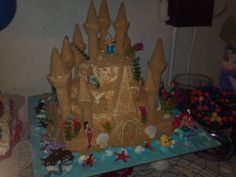 Lexies 4th birthday cake for her Little Mermaid Party. My hubby's aunt and mom have made all her cakes and they are beautiful and delicious!