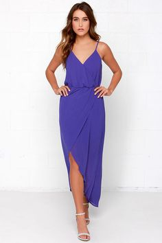 Wrap it Up Royal Blue Maxi Dress at Lulus.com!