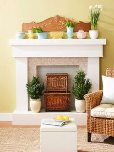 4 Ideas for Fireplace Decorating & 13 best Empty Fireplace Ideas images on Pinterest | Empty fireplace ...