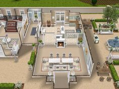 House 108 French Chateau ground level #sims #simsfreeplay #simshousedesign
