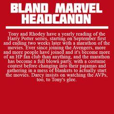 Bland Marvel Headcanons - harry potter marathon