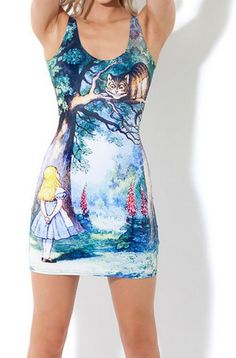 EAST KNITTING fashion BL-083 2014 Women new Vest tops summer CHESHIRE CAT DRESSES Sexy Clothes free shipping 990052475