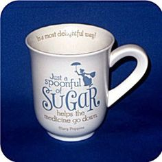 """Mary Poppins """"Spoonful Of Sugar"""" mug from Hallmark's Disney collection."""