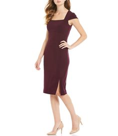 Shop for Calvin Klein Cap Sleeve Square Neck Side Slit Midi Sheath Dress at Dillards.com. Visit Dillards.com to find clothing, accessories, shoes, cosmetics & more. The Style of Your Life. Crystal Wedding Dresses, 2015 Wedding Dresses, Designer Wedding Dresses, Bridal Dresses, Lace Wedding, Grooms Mom Dress, Work Dresses For Women, Office Dresses, Little Dresses