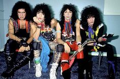 Kiss in 1983 with Vinnie Vincent and Eric Carr
