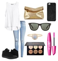 Outfit by hellofashion22 on Polyvore featuring polyvore, fashion, style, H&M, Converse, Michael Kors, BaubleBar and Ray-Ban