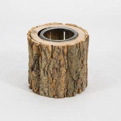 Flormania  .  Candelabro em casca de madeira