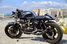 Moto Guzzi Le Mans Café Racer. Moto Guzzi is an Italian bike which, like all Italian sporting machines, is a witch in the guise of a motorcycle. Should you ever ride one, you'll be enraptured forever.