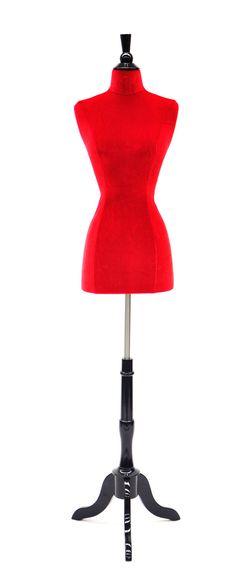 Velvet Dress Form Slipcover: Red