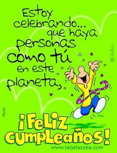 Estoy celebrando que haya personas como tú I'm celebrating that there are people like you Spanish Birthday Wishes, Unique Birthday Wishes, Happy Birthday Wishes Cards, Birthday Blessings, Birthday Messages, Birthday Images, Birthday Quotes, Birthday Greetings, Happy Birthday Nephew