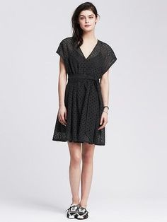 Narcisse lace short sleeve dress