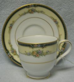 Noritake China Darnell 4154 Pattern Cup and Saucer Set | eBay