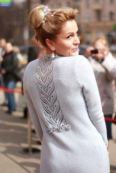 knit coat by Olesya Danilyuk - Pulli Sitricken Crochet Jacket Pattern, Sweater Knitting Patterns, Coat Patterns, Lace Knitting, Clothing Patterns, Vogue Patterns, Sewing Patterns, Crochet Patterns, Knitted Coat