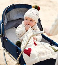 Knitted Baby Set free pattern hat blanket cardigan