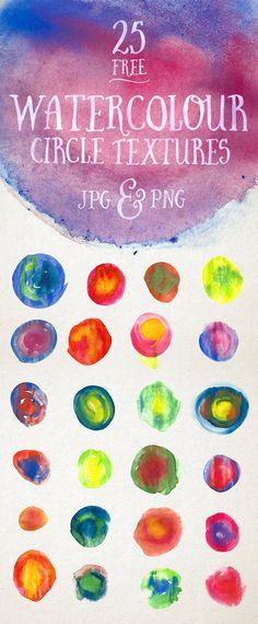 25 kostenlose Watercolour Circle Textures