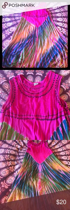 Shoreline boho dress Tye Dye boho 0ne size fits all. Excellent condition Shoreline Dresses Maxi