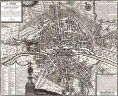 """""""Paris 1643"""" Grafik/Illustration von vintage jetzt als Poster, Kunstdruck oder Grußkarte kaufen.."""
