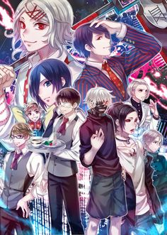 Tokyo Ghoul #anime #manga -action/drama/horror/mystery/psychological/seinen/supernatural