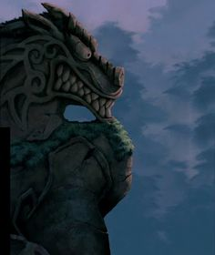 The great stone dragon.