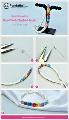 #PandaHall tutorials on Elegant Colorful Glass Beads Bracelet