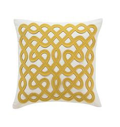 DWELL STUDIO Labyrinth Citrine Pillow