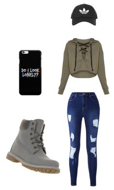 """""""Untitled #1"""" by erinupadhayay ❤ liked on Polyvore featuring Timberland and Topshop"""