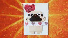 Pug magnet Origami Fawn pug magnet Fridge Magnet Cute Pug | Etsy The Pug, Origami Dog, Fawn Pug, Cute Pugs, Magnets, Etsy, Origami Paper, Paper Envelopes, Hand Made