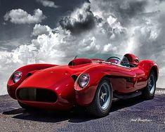 Classic Car Print - 1957 Ferrari 250 Testa Rossa - Sports Car Print -  8x10 Print - A24 Maserati, Bugatti, Lamborghini Sesto, Luxury Sports Cars, New Sports Cars, Luxury Auto, Auto Jeep, Sexy Cars, Hot Cars