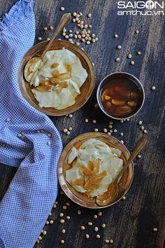 Bật mí cách làm tào phớ (đậu hũ) nước đường cực mịn bằng gelatine - http://congthucmonngon.com/173082/bat-mi-cach-lam-tao-pho-dau-hu-nuoc-duong-cuc-min-bang-gelatine.html