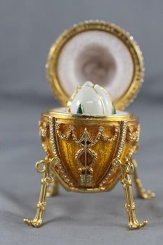 20th Century Boxed Faberge Egg, : Lot 306A