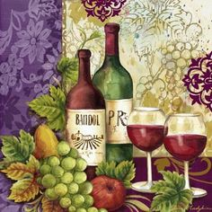 Medium Vintage Images, Vintage Posters, Grapes And Cheese, Cafe Art, Fruit Painting, Africa Art, In Vino Veritas, Decoupage Paper, Wine Time