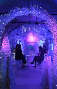 Dance Floor - Ice Effect, Frozen Themed Party | Ideas For Frozen Theme Party | Event Prop Hire