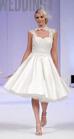 short wedding dress by timeless couture. love the top