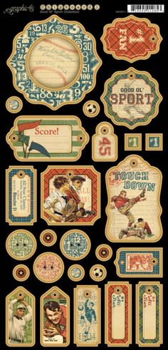 Introducing Good ol' Sport Chipboard tags 1 #graphic45 #newreleases