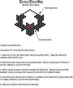 esquema murciélago en peyote