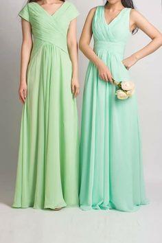 green, shades, bridesmaid
